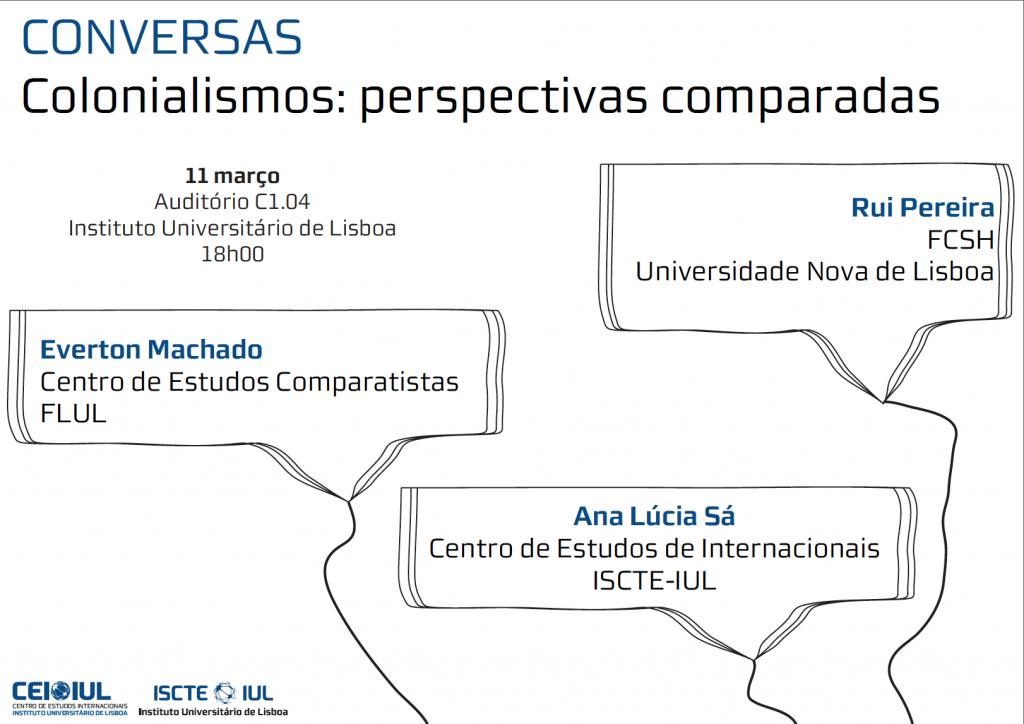 CONVERSAS no CEI-IUL – Colonialismos: perspectivas comparadas