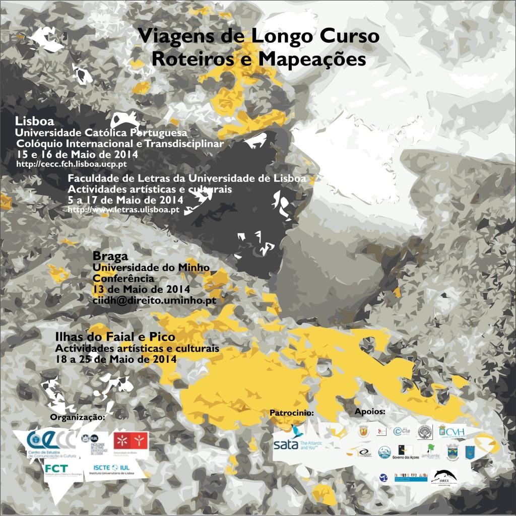 Viagens de longo curso: roteiros e mapeações, 15 e 16 maio