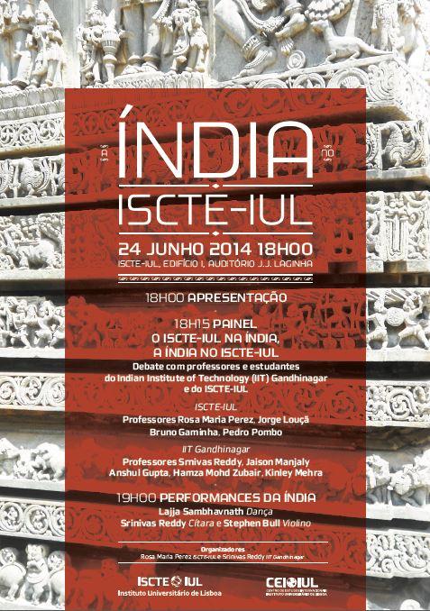 Índia no ISCTE-IUL, 24 de junho,18h00, Auditório J.J. Laginha