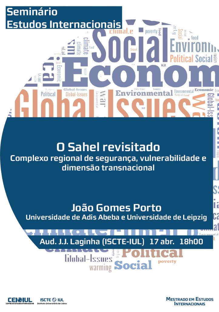 Seminário de Estudos Internacionais – O Sahel revisitado: Complexo regional de segurança, vulnerabilidade e dimensão transnacional