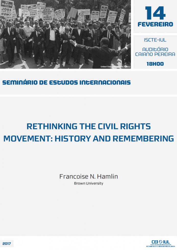 Seminário de Estudos Internacionais – Rethinking the Civil Rights Movement: History and Remembering