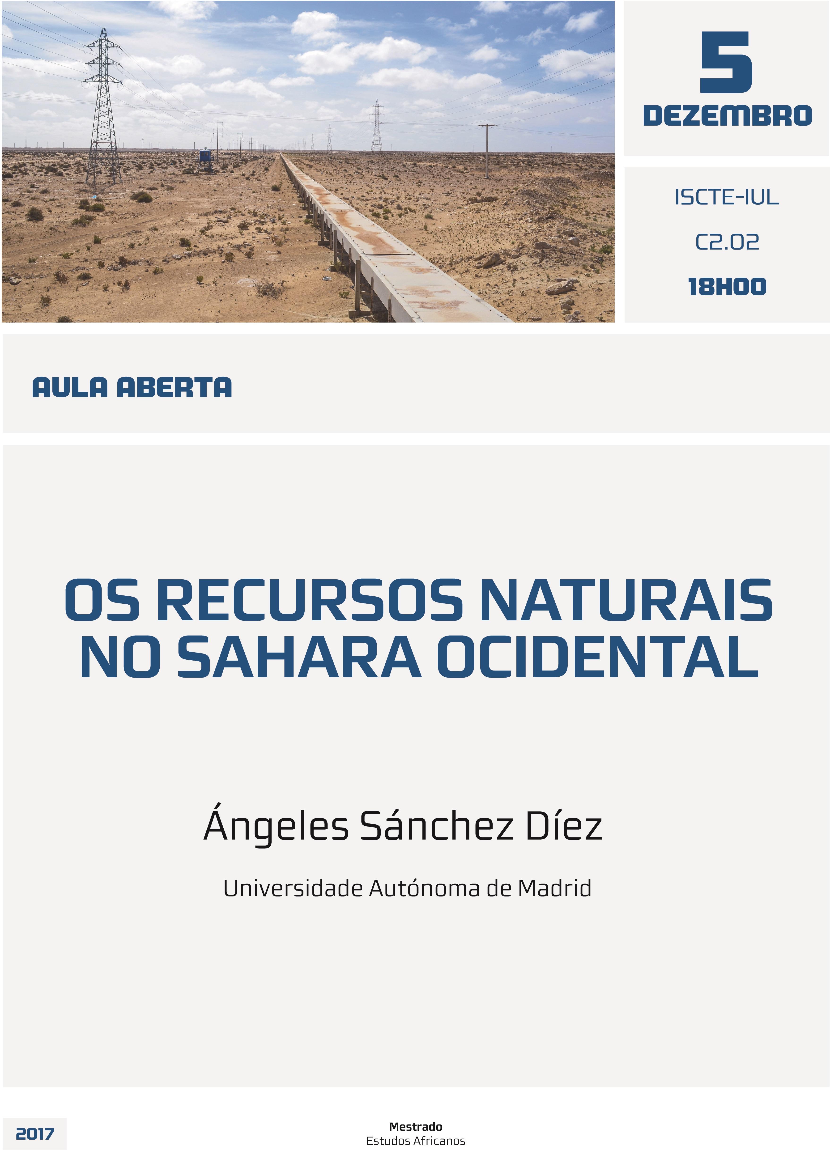 Aula Aberta: Os recursos naturais no Sahara Ocidental