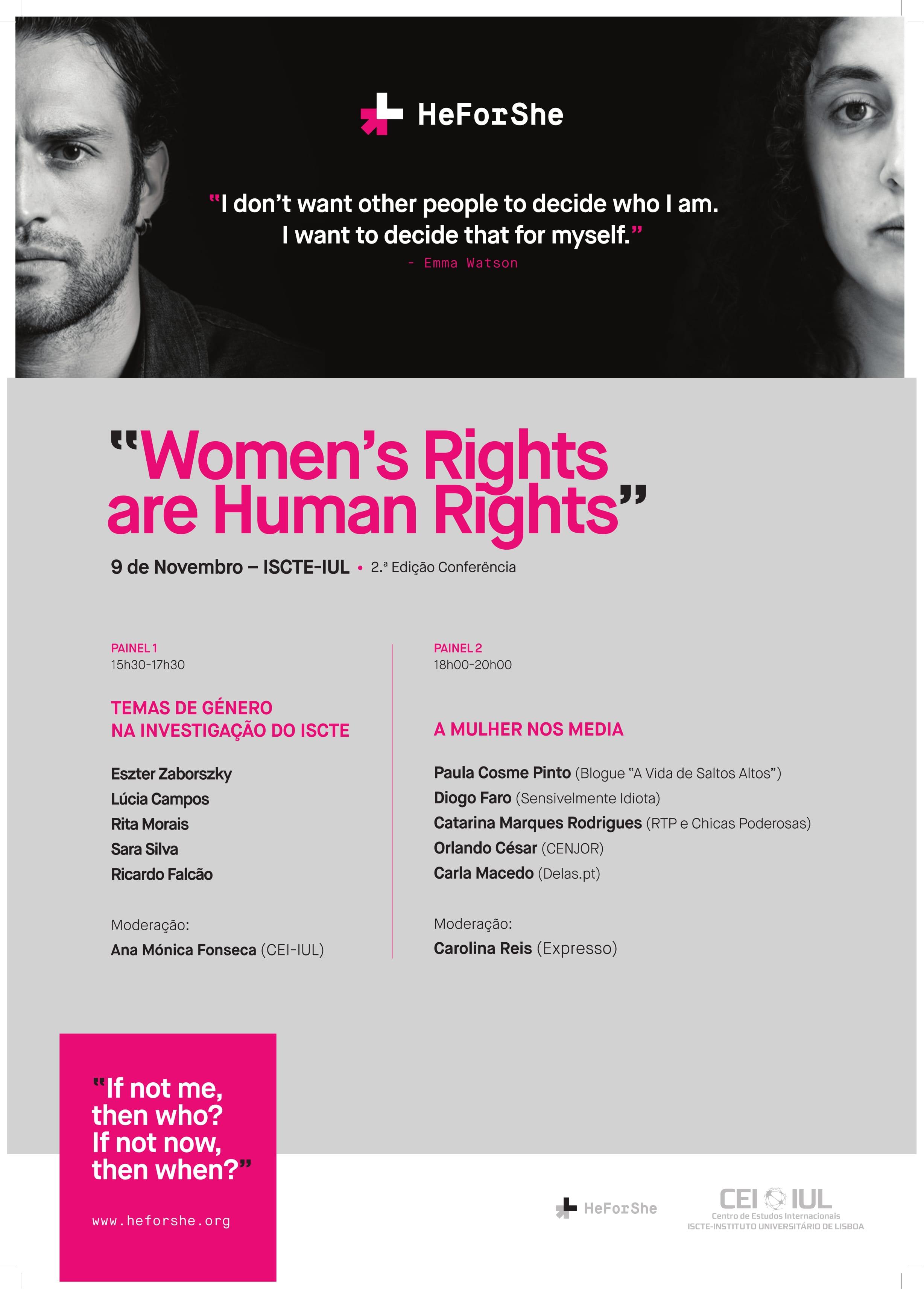 "2ª edição da Conferência ""Women's Rights Are Humans Rights"""
