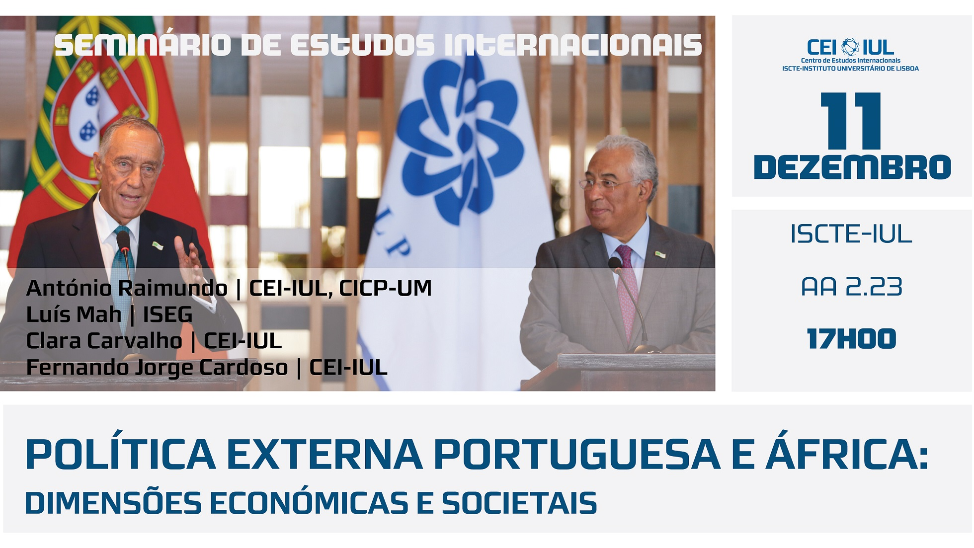 Seminário: Política Externa Portuguesa e África – dimensões económicas e societais