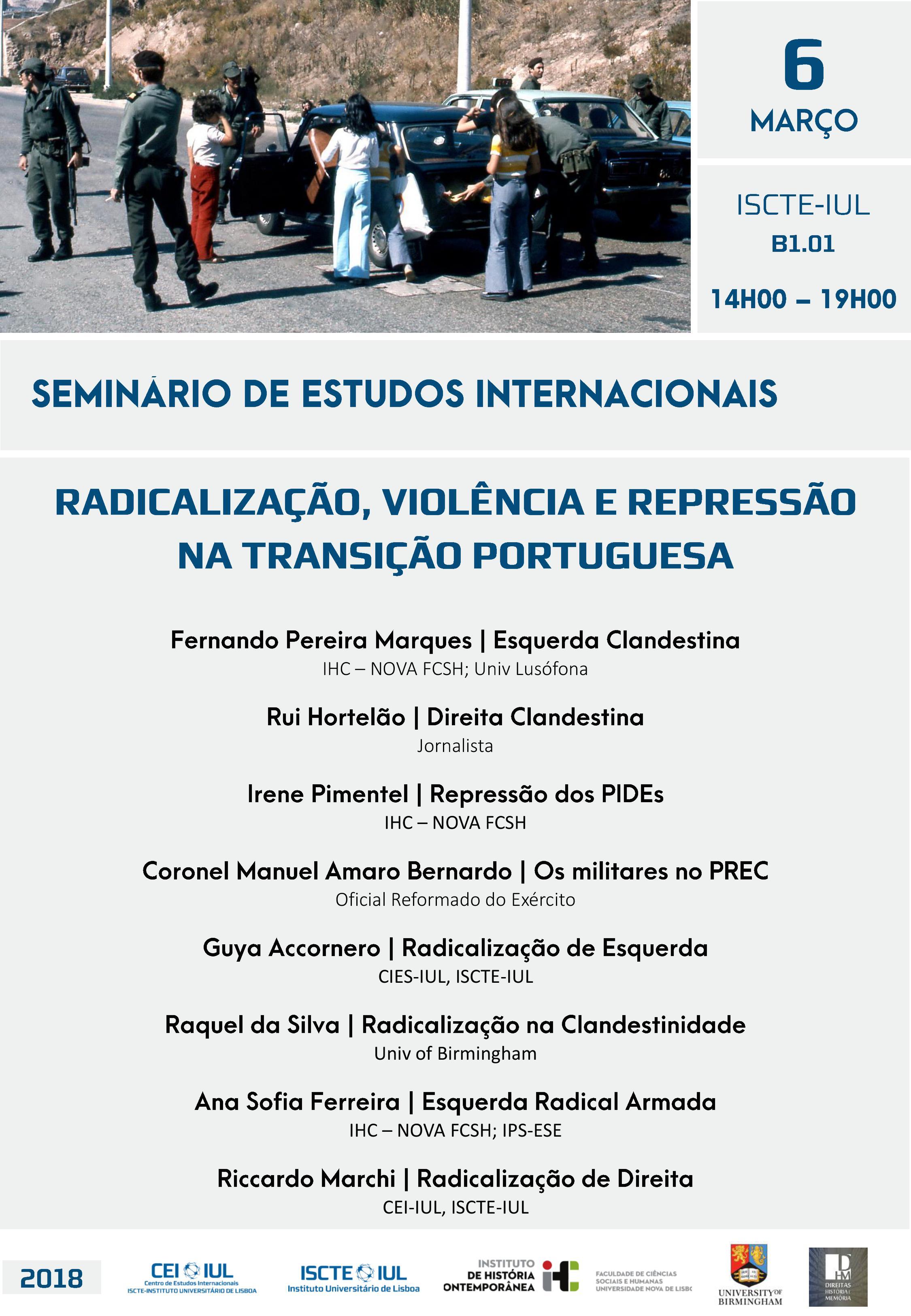 Radicalização, Violência e Repressão na Transição Portuguesa