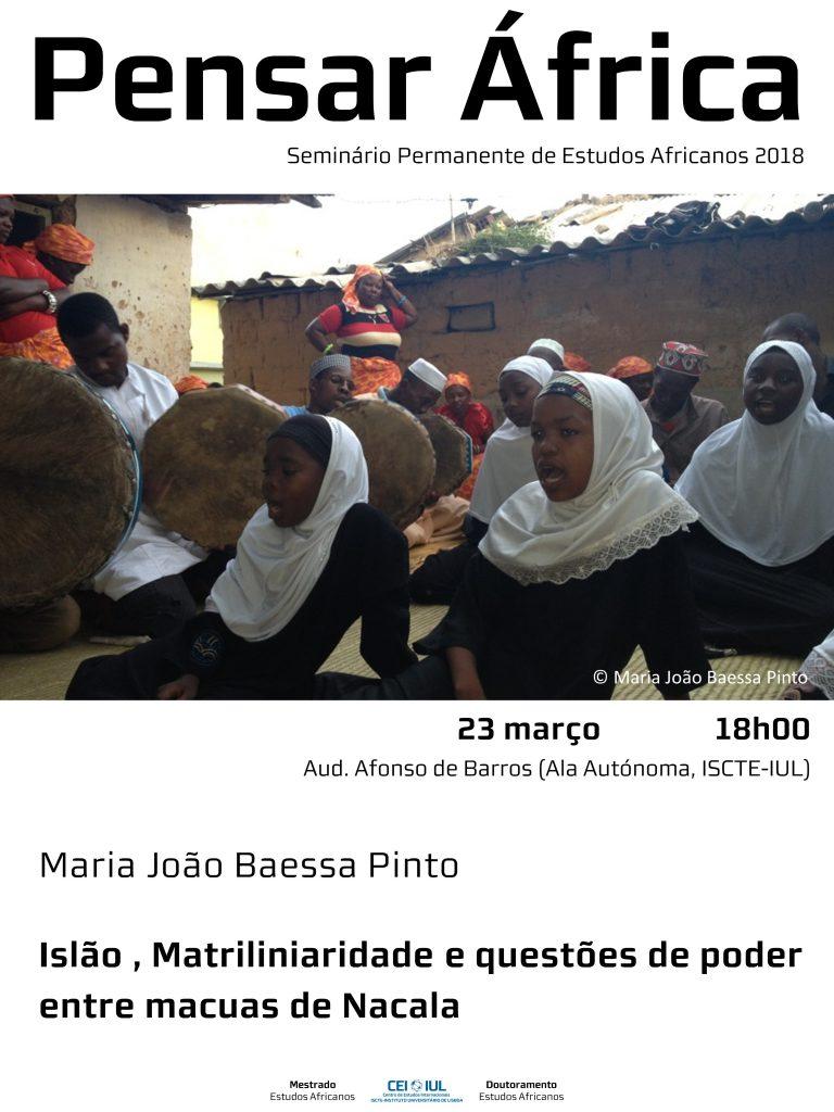 Pensar África: Islão, Matrilinearidade e questões de poder entre os macua de Nacala