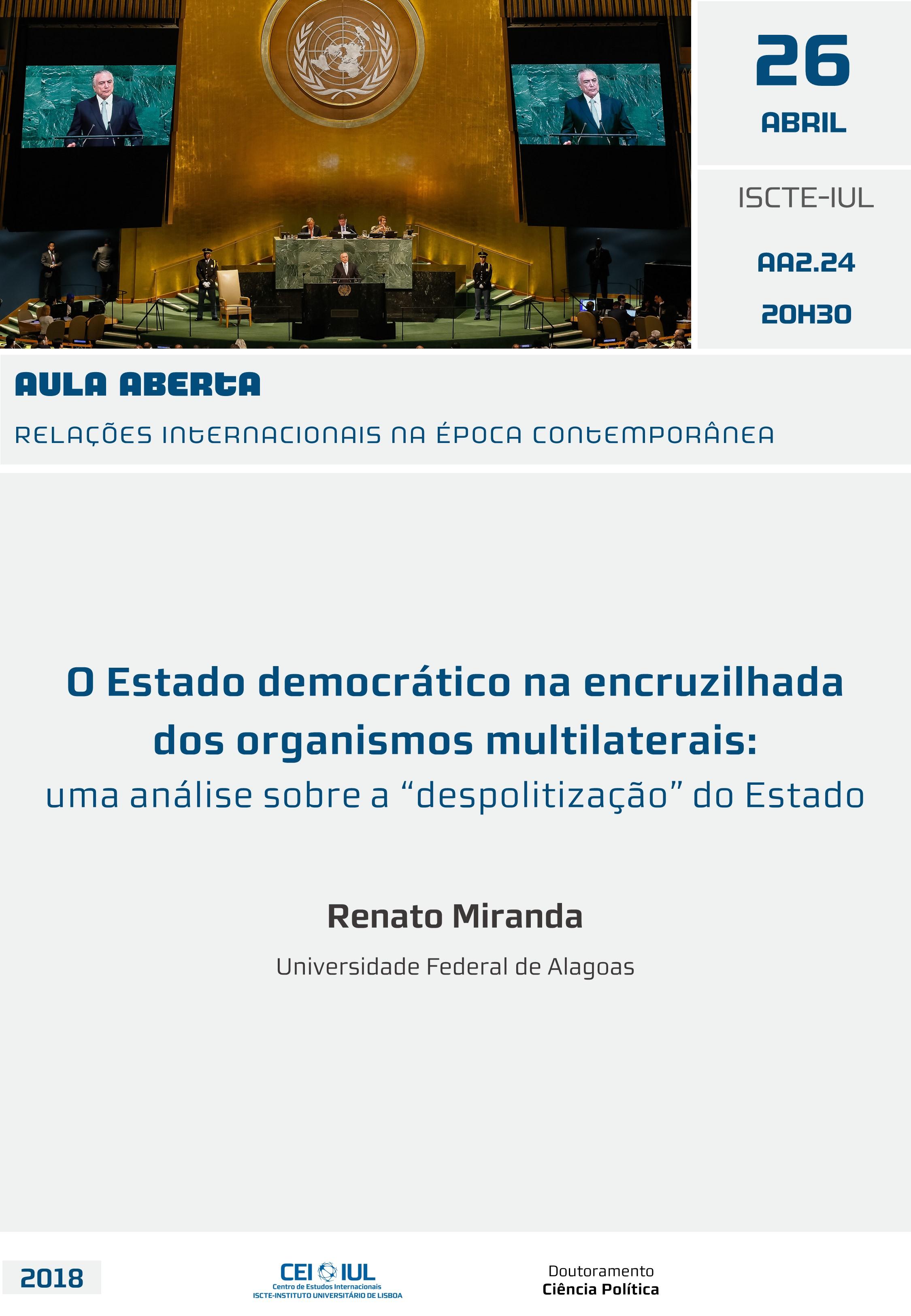 O Estado democrático na encruzilhada dos organismos multilaterais