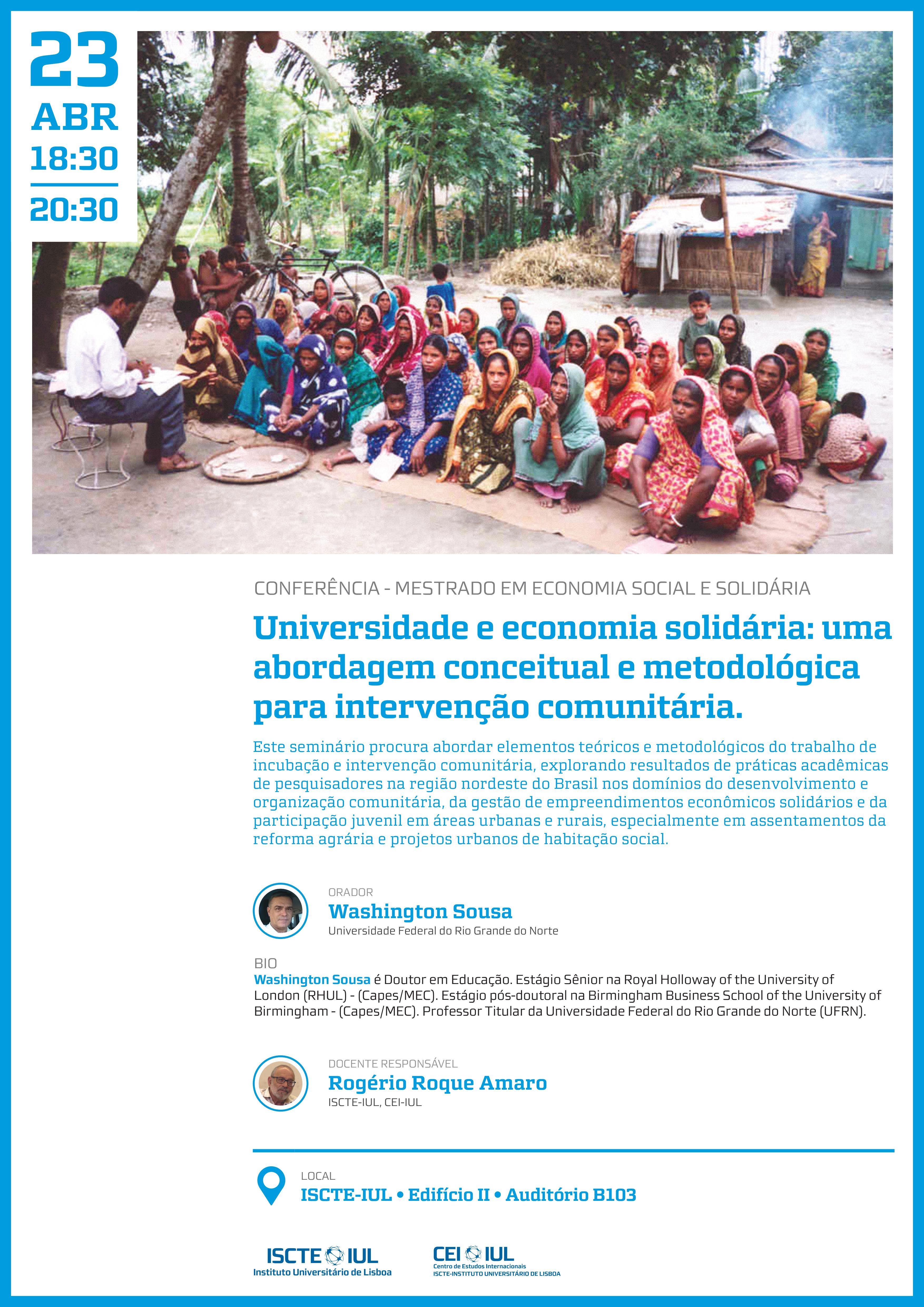 Aula Aberta Mestrado de Economia Social e Solidária