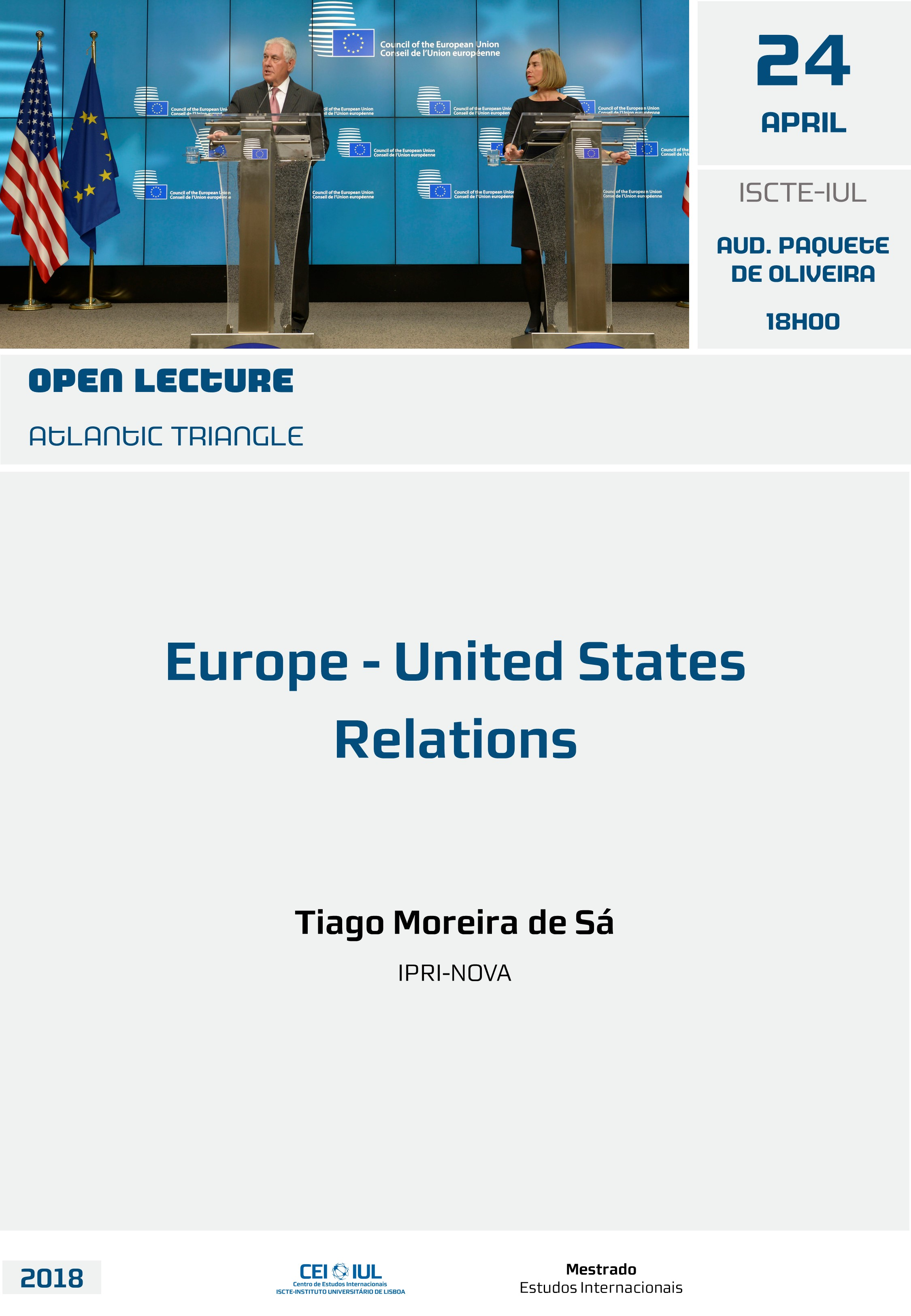Open Lecture: Europe-United States Relations