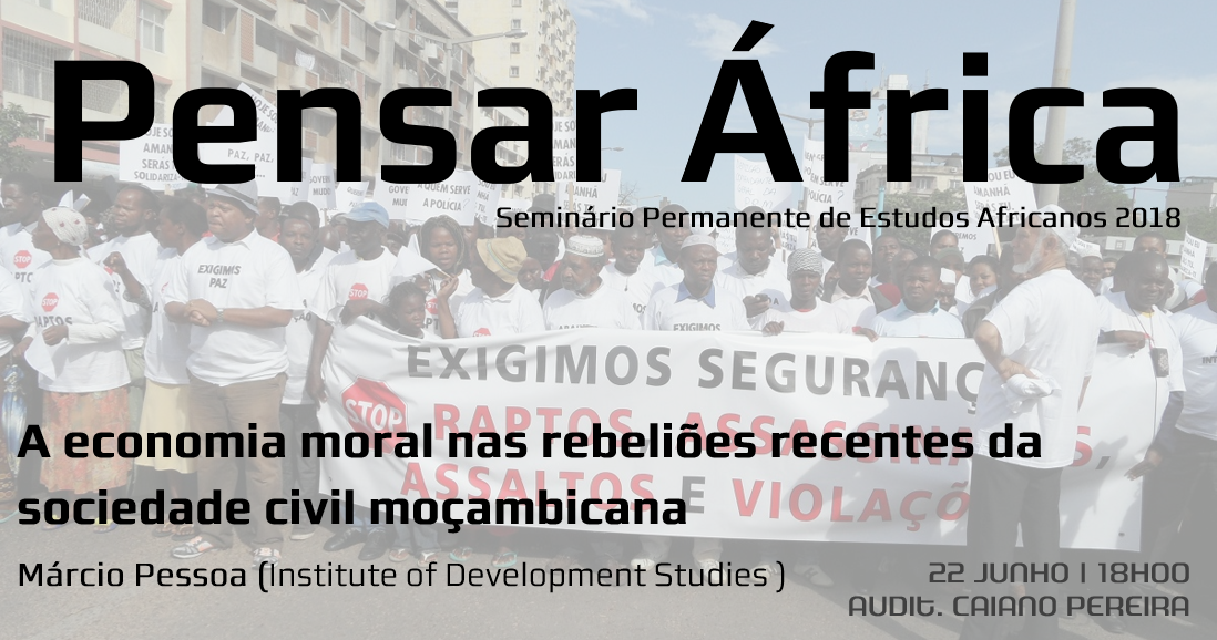Pensar África: A economia moral nas rebeliões recentes da sociedade civil moçambicana