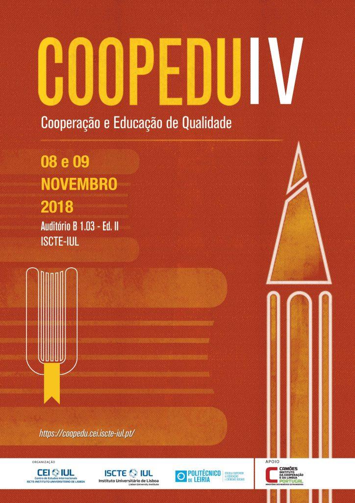 Hoje é o último dia para se registar no IV COOPEDU: Cooperação e Educação de Qualidade