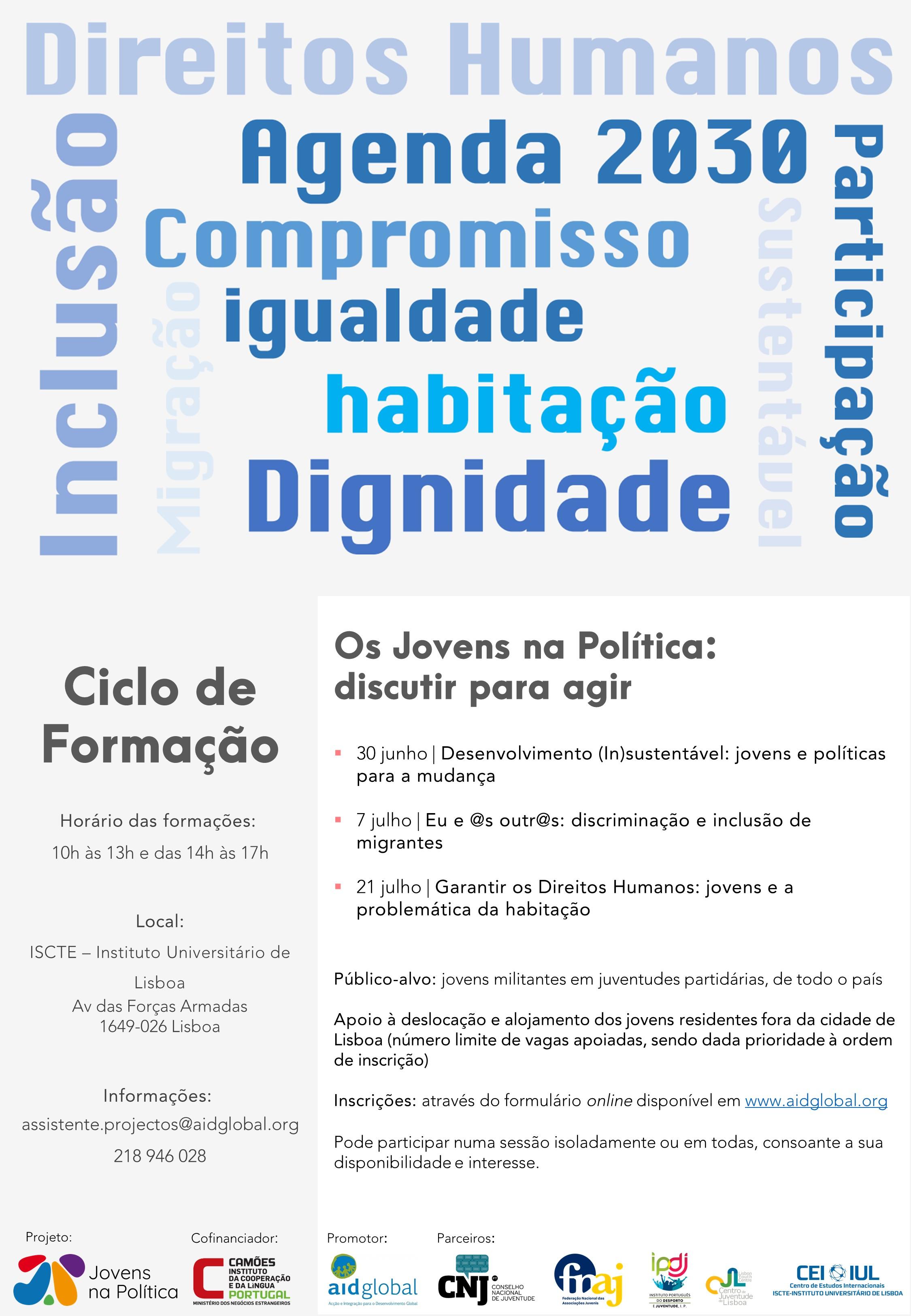 Curso   Desenvolvimento (In)sustentável: jovens e políticas para a mudança