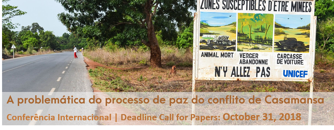 Aproximação da data limite da recepção de resumos: A problemática do processo de paz do conflito de Casamansa