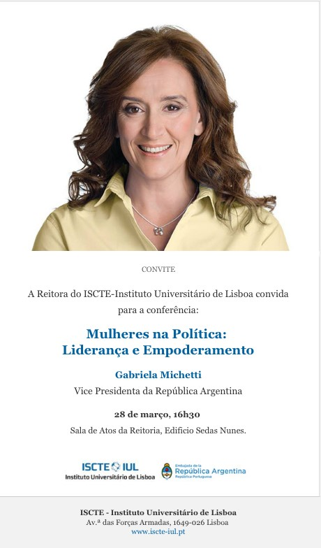 Conferência com Vice Presidente da República da Argentina Gabriela Michetti