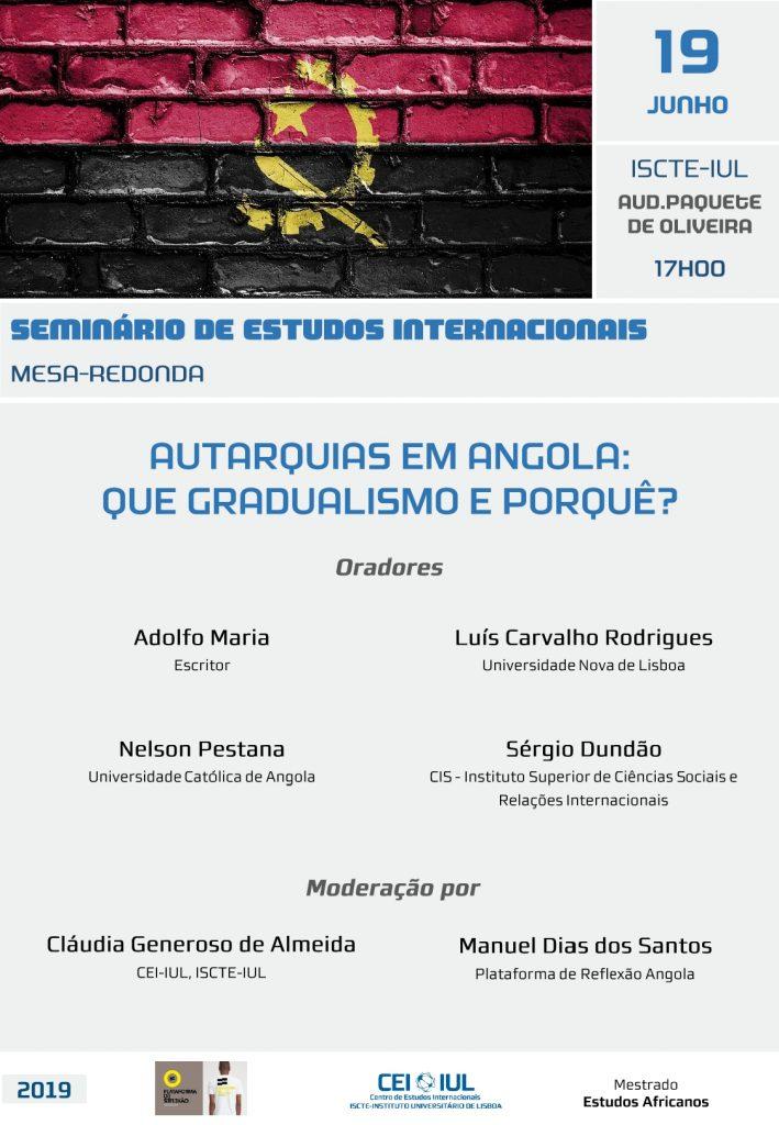 Mesa-redonda | Autarquias em Angola: que gradualismo e porquê?