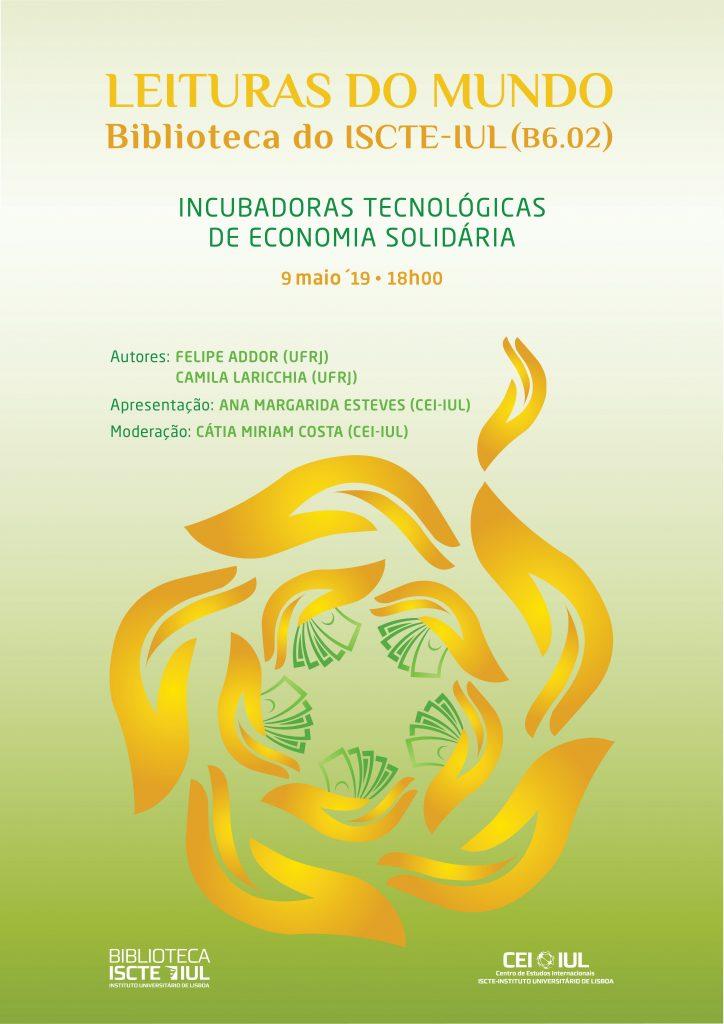 Amanhã | 18h | Leituras do Mundo: Incubadoras Tecnológicas de Economia Solidária