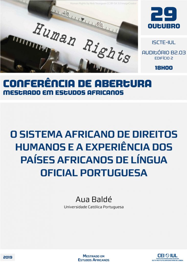 Abertura Mestrado Estudos Africanos: Sistema Africano de Direitos Humanos