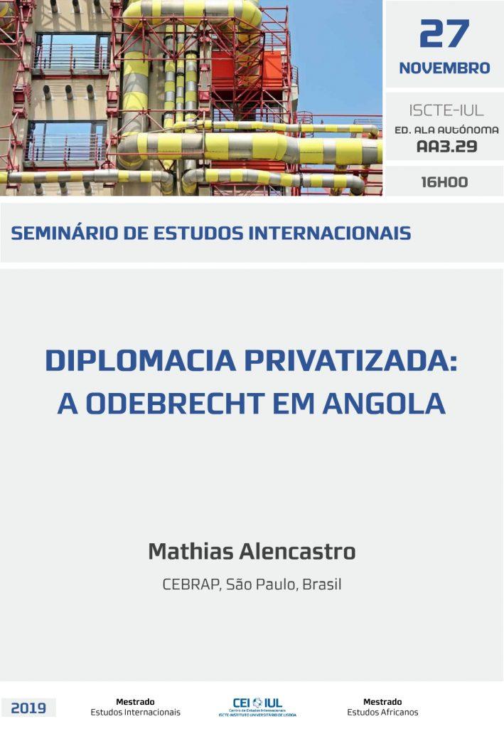 Diplomacia privatizada: a Odebrecht em Angola