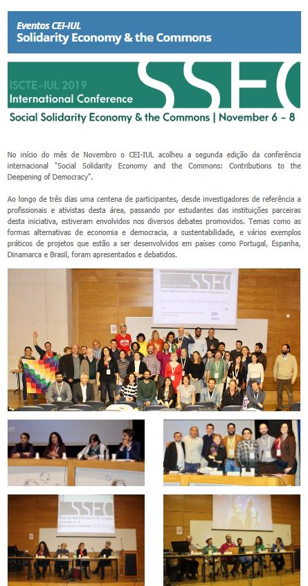 Consulte a Newsletter de Outubro e Novembro do CEI-IUL