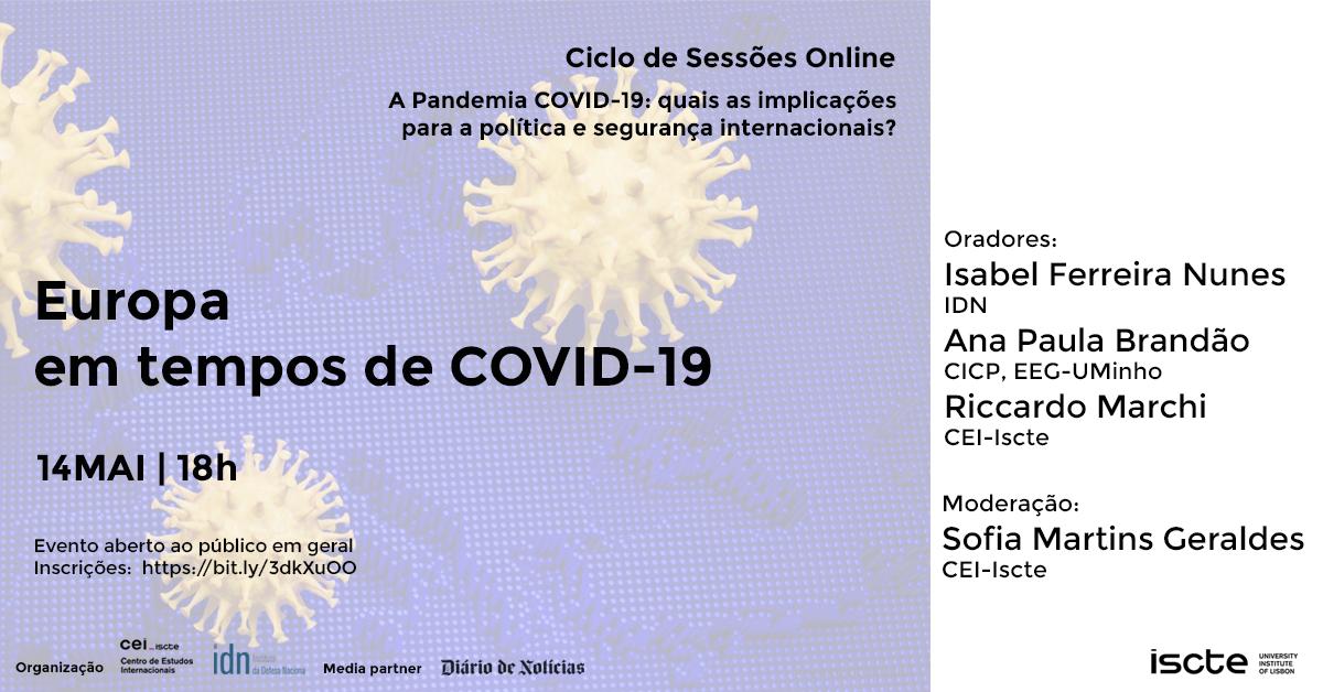 Sessão online #3 | 14 Mai | Europa em tempos de Covid-19