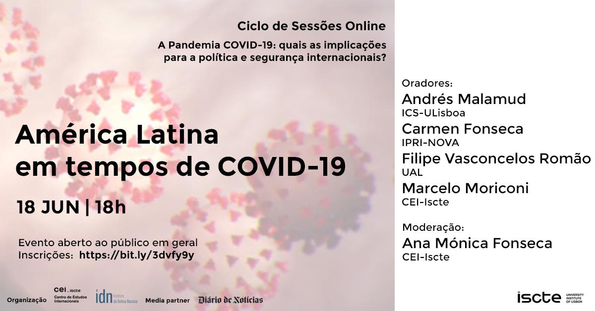 Sessões online#7 | 18 jun | América Latina em tempos de Covid-19