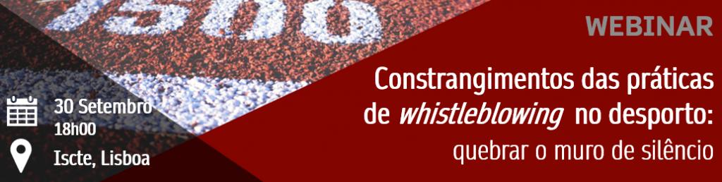 Constrangimentos das práticas de whistleblowing no desporto: quebrar o muro de silêncio