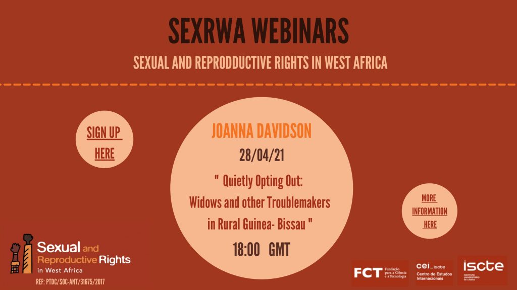 SEXRWA Webinar: Widows & Other Troublemakers in Rural Guinea-Bissau